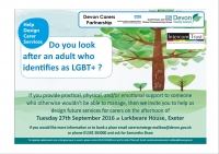 Do you look after an adult who identifies as LGBT+?