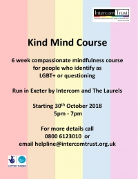 Kind Mind course - starting 30th October 2018