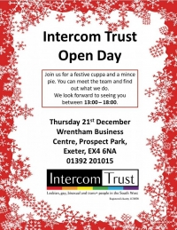 Intercom Trust Open Day - Thuesday 21st December 2017