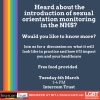 Sexual Orientation Monitoring event - Tuesday 6th March 2018